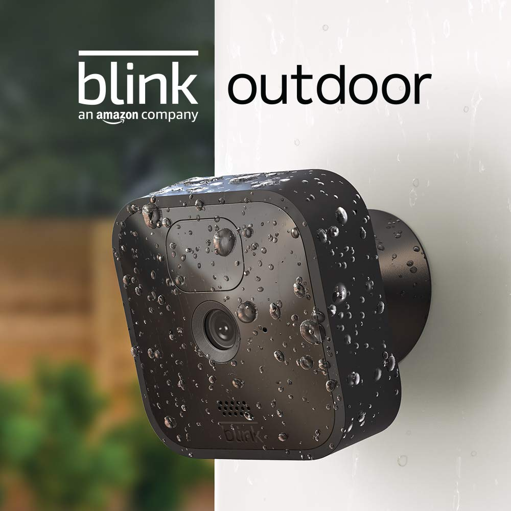 Blink Outdoor – wireless, weather-resistant HD security camera with two-year battery life and motion detection